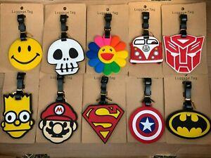 28 Different Designs Children's Kids Cartoon Luggage Label Bag Tags. School Bag