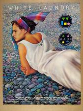 1985 Maui & Sons White Laundry Rick Rietveld art vintage print Ad