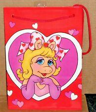 Vintage Miss Piggy Valentine Gift Bag Forget Me Not American Greetings Unused