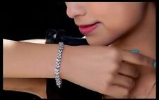 Unbranded Tennis White Gold Filled Costume Bangles