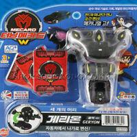 TURNING MECARD W Geryon Black Transformer Transforming Car Peacock Robot Toy_Nk