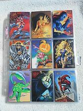 95 Fleer Ultra Spiderman Gold Foil Series Base Set Single Cards (Pick One) NM