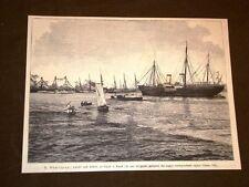 Kiev nel 1889 Ucraina Yacht Dergiava dello Zar di Russia Alessandro III Romanov