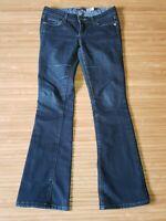 Paige Laurel Canyon Boot Cut Dark Denim Low Rise Jeans Womens size 26 / 29x31