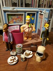 Playmates Simpsons Springfield Nuclear Power Plant with Homer,Carl,& Lenny