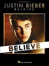 Justin Bieber - Believe (2013, Paperback) Songbook Sheet Music Song Book