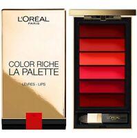 L'oréal Color Riche Lip Palette Contouring Rouges a Lèvres 6 nuances Rouge