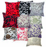 Big Rose Flower Leaf Cotton Blend Velvet Style Cushion Cover/Pillow Case Custom