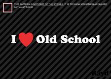 (2x) I love Old School Decal Sticker Die Cut