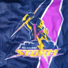 NRL MELBOURNE STORM FLAG Official Game Day 900 x 600mm with stick -NEW!