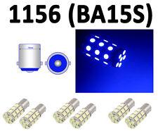 Lot 6 PCS Blue 27 LED Car Auto Tail Rear Turn Brake Light Bulbs Lamp BA15S 1156