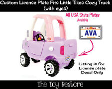 Replacement Decal for Little Tikes Cozy Truck License Number Plate California Ol