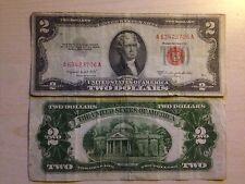 STATI UNITI USA 2 DOLLARI TWO DOLLARS $ SERIES 1953 B SIGILLO ROSSO MOLTO RARA