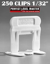 """1/32"""" T-Lock 250 Clips - Perfect Level Master  - Tile Leveling System spacers"""