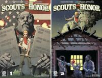 Aftershock Scouts Honor #1 #2 Comic Boy Scouts Eagle Merit Andy Clarke Cover NM