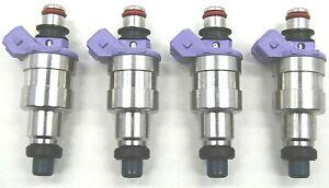 4x NISSAN SKYLINE 200SX MAZDA RX7 TOYOTA MR2 HIGH Ω 550cc 52l/b FUEL INJECTORS