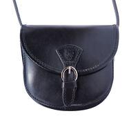 Borsa a Tracolla Cuoio Pelle Leather Crossbody bag Italian Made In Italy 224 bk