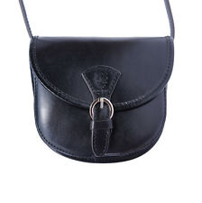 Borsa a Tracolla Cuoio Pelle Leather Crossbody bag Italian Made In Italy 224 bk