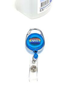 Carabiner Retractable Badge Holder ID Badge Reel with NHS Rainbow Logo