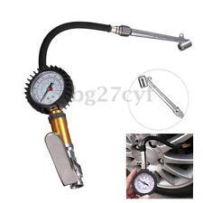 Car Tire Tyre Air Pressure Dial Gauge Inflating Valve Tool Inflator Deflator PSI