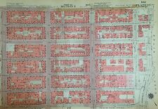 1955 EAST AND WEST SIDE MIDTOWN MANHATTAN NYC G.W. BROMLEY PLAT ATLAS MAP 12X17