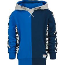 VINGINO Jungen Pullover Sweatshirt Kapuze NERBER capri blue Gr.116-176
