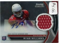 Ryan Williams 2011 Bowman Sterling Autograph Rookie Jersey Relic Card