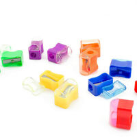 Bulk Plastic Colorful Pencil Sharpener With Cap Assortment (6 dz or 72pc) School