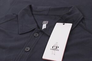 C.P. (CP) Company NWT Polo Shirt Short Sleeve Size L In Solid Dark Blue
