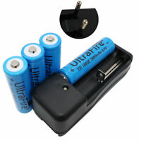4X 18650 Battery 3800mAh 3.7V Li-ion Rechargeable and Fast Dual Charger EU Plug