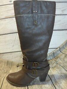 43 XXL NEU VON SHEEGO Weitschaftstiefel mit dekorativem Lederband GR