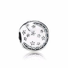 Original Pandora Charm Element 791386 CZ Funkelnde Nacht Clip Silber Bead