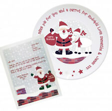Personalised Rooftop Santa Mince Pie Plate With Thank You Letter Boys and Girls