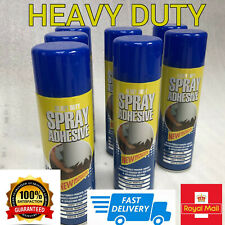 Spray Contact Glue Adhesive Heavy Duty Mount DIY Crafting Upholstery 500ml GB