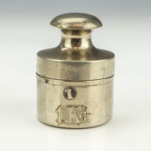 Antique 1lb Weight Formed - Novelty Pocket Travel Inkwell Ink Bottle