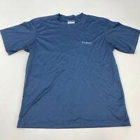 Columbia Omni-Wick T Shirt Men's Medium Short Sleeve Blue Crew Neck Polyester