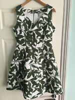 Bravissimo Pepperberry Printed Floral Dress  Green Size 12 Really Curvy