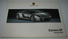 Betriebsanleitung Porsche Carrera GT mit 612 PS V 10 Bedienungsanleitung 06/2003