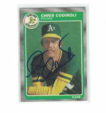 * 1985 Fleer Chris Codiroli Oakland A's Athletics Authentic Autograph COA