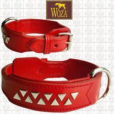 Premium Hundehalsband Französische Bulldogge Vollleder WOZA Lederhalsband CE2943