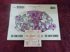 Jimi Hendrix Experience Syd Barrett Pink Floyd 1967 Program and Ticket Stub