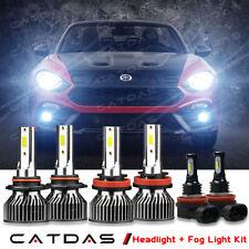 CATDAS LED Headlight Fog Lights Bulbs Combo 6000K For FIAT 124 SPIDER 2017-2020
