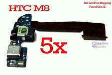 HTC One M8 831C Headphone Audio Jack Charging Micro USB Port Flex Cable LOT 5
