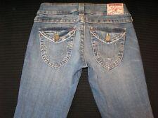 True Religion Joey Jeans Women's Sz 26 Low Bootcut Distressed w Stretch L 32