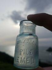 Old Miniature Dr. Bosanko's Remedy Bottle  Antique Sample Size Crude/Med. Bottle