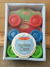 NEW Melissa & Doug First Play Wooden Stacking Cars (Set Of 3) Ages 12 mos +