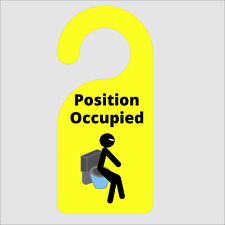 Novelty Position Occupied Door Hanger For Toilet Made From Durable FRP