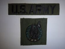 Set Of 2 US Military Subdued Patches: U.S. ARMY Pocket Tape + US ARMY RECRUITER