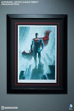 Framed Sideshow Superman Justice League Trinity Premium Art Print Dc Comics