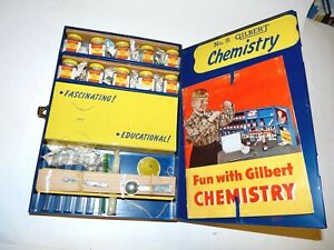 Vintage 1954 AC Gilbert Chemistry Set # 5 Clean and Nice. Potassium Nitrate +,